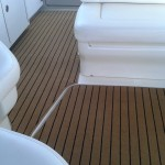 Searay Sundancer teak black carpet
